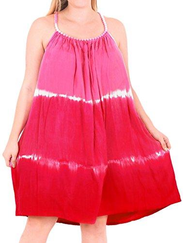 LA LEELA Womens Summer Casual T Shirt Dresses Beach Cover up US 14-18W ()