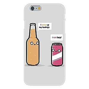 "DaojieTM Generic Iphone 6 Plus 5.5 Inch Custom Case White Plastic Snap on - ""Bottled Up wangjiang maoyi"