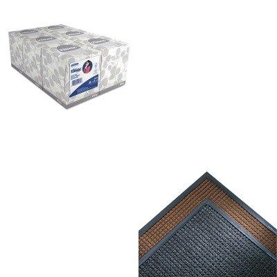 Super Soaker Indoor Wiper (KITCWNSSR310CHKIM21271 - Value Kit - Crown Mats SS310CHA Super-Soaker Indoor Wiper/Scraper Mat, 36 x 120, Charcoal (CWNSSR310CH) and KIMBERLY CLARK KLEENEX White Facial Tissue (KIM21271))