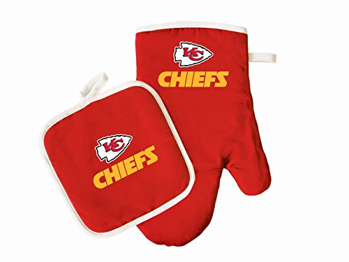 - Kansas City Chiefs Oven Mitt & Pot Holder Set Cooking Grilling Barbecue Football