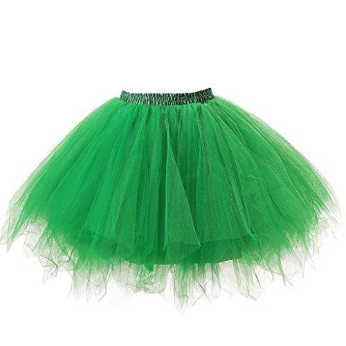 Herbe tutu Jupe 50 tulle ballet Vert vintage Carnaval Ellames Jupon annes Petticoat en v8HPHq