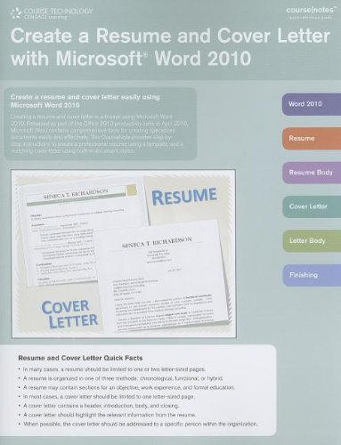 amazon create a resume and cover letter with microsoft word 2010
