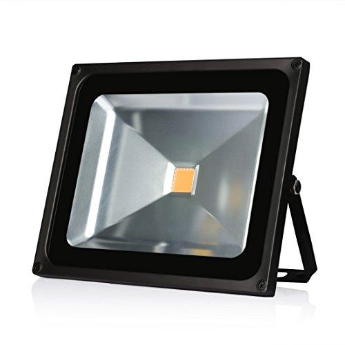 LEDMO 50W LED Flood Lights, Waterproof IP65, Warm White, 3000K, 4500lm, 250W Halogen Equivalent, Security Lights, Floodlight