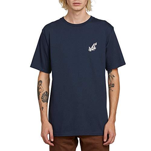 (Volcom Men's Lopez Web Basic Short Sleeve Tee, Navy Small)