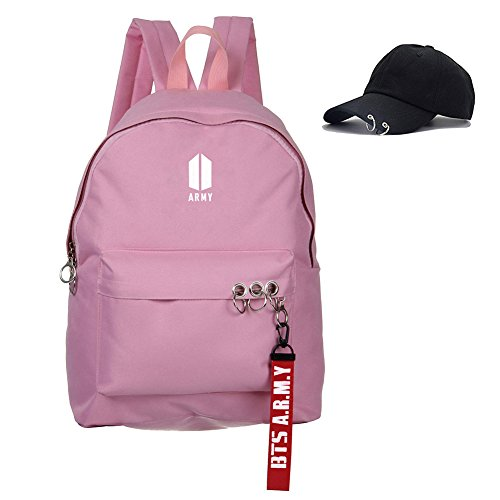 Bosunshine BTS Love Yourself V Suga Jin Jimin Jung Kook Casual Backpack Daypack Laptop Bag College Bag Book Bag School Bag with Hat PK1 by Bosunshine (Image #4)'