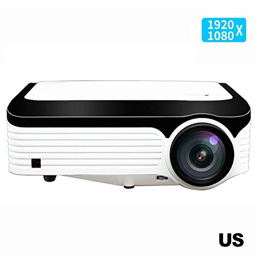 Kindes 1920 x 1080P Full HD Wireless 3000 Lux Movie Video Projectors with 30,000 Hrs LED Lamp Life Compatible with Fire TV Stick, PS4, HDMI, VGA, AV and USB from Kindes
