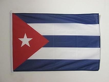 AZ FLAG Bandera Nautica de Cuba 45x30cm - Pabellón de conveniencia Cubana 30 x 45 cm Anillos: Amazon.es: Hogar
