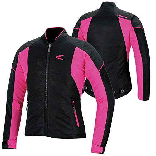 RS Taichi Women's Crew Mesh Jacket - RSJ317 (Medium) (Black/Pink)