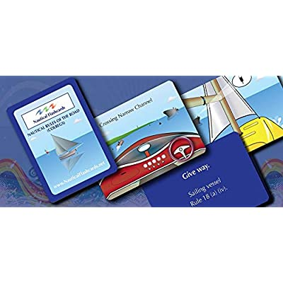 Nautical Flashcards Educational Rules of The Road (COLREGS) Cards for Boating and Sailing: Sports & Outdoors