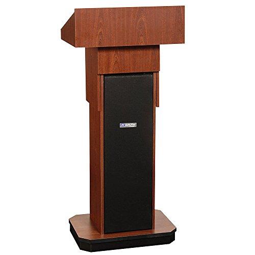 Amplivox Executive Adjustable-Height Non-Sound Lectern - Mahogany - Mahogany