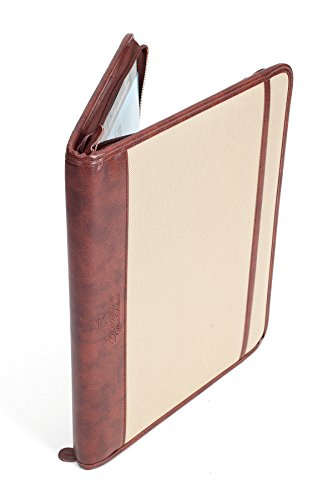 Professional Business Case Portfolio Padfolio Organizer Folder With iPad Mini, Kindle or Tablet Sleeve, Zipper, Card Holders, Pen Holder, Document Folder, and Front Paper Holder - Tan Photo #5
