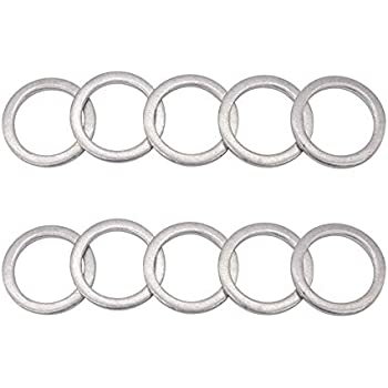 Replacement Part 94109-20000 20mm Compatible for Honda Accord Acura Civic Ridgeline Odyssey CRV CR-V Pilot Rear Differential Drain and Fill Plug Crush Washers Aluminum Gaskets Seal Rings 10 Pack