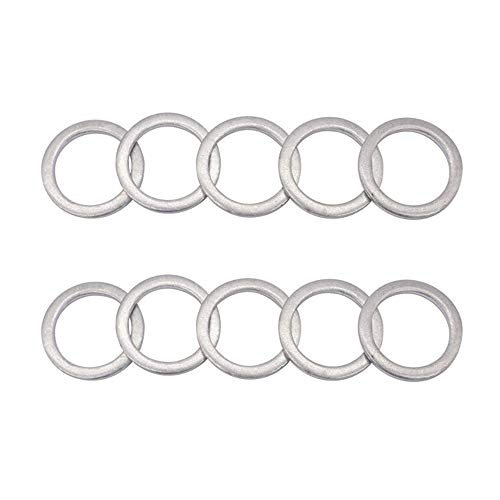 Rear Differential Fill/Drain Plug Crush Washers Aluminum Gaskets Seal Rings (20mm) for Honda Accord Acura Civic Ridgeline Odyssey CRV CR-V Pilot Ex-L, Replacement the Part # 94109-20000, Pack of 10pcs