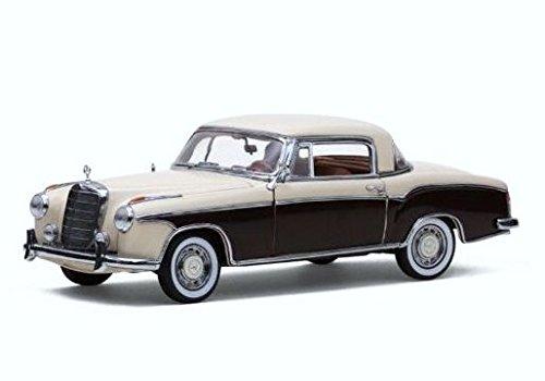 1/18 1958 年メルセデスベンツ220SEクーペ アイボリー/レッド 3566