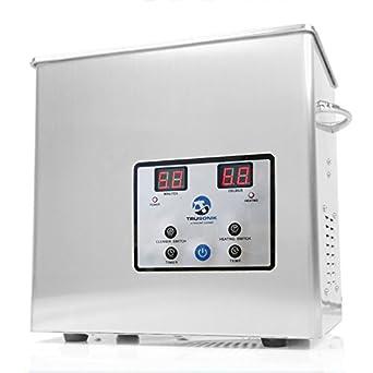 TruSonik 2 5L Digital Ultrasonic Cleaner With Heater | Industrial Stainless  Steel Body, Tub, & Basket | Cleans Jewellery, Dental & Tattoo Equipment,