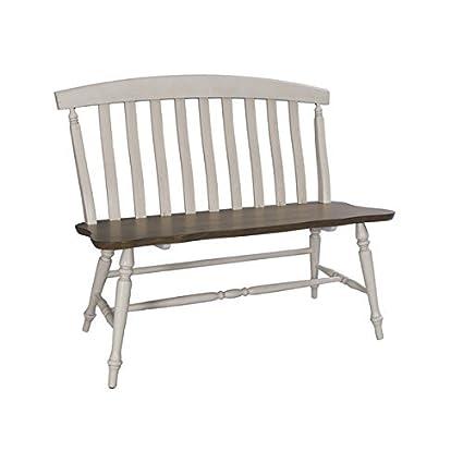 Marvelous Amazon Com Fresco Two Tone Transitional Slat Back Dining Forskolin Free Trial Chair Design Images Forskolin Free Trialorg