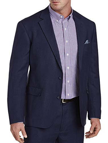 Oak Hill by DXL Big and Tall Suit Jacket 2B, Navy 4XL (2b Suit)