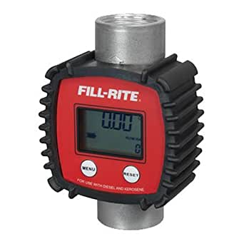 Fill-Rite FR1118A10 3-26 GPM In-line Digital Flow Meter, Aluminum
