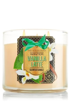 Bath & Body Works Winter Vanilla Latte 3-Wick Scented Candle