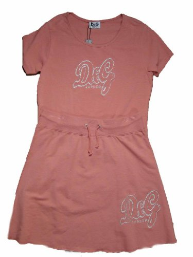 D&G Girls Peach Skirt + Shirt Outfit - Dolce Gabbana Junior