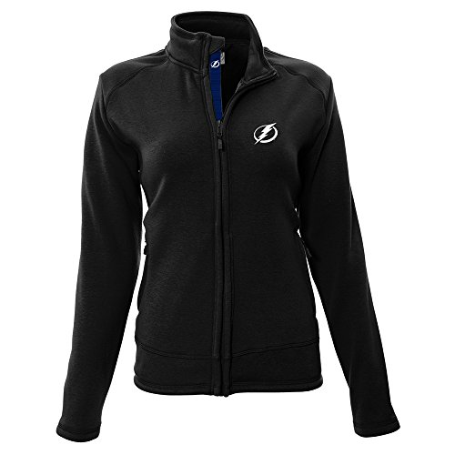 NHL Tampa Bay Lightning Adult Women Tranquil Insignia Icon Heather Full Zip Jacket, Medium, Black ()
