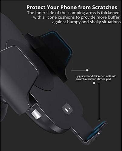 IPhone X/のX MAX/XS/XR/X / 8/8 + /サムスンS10 / S10 + / S9 / S9 + / S8 / S8 +対応の高速自動クランプ電話ホルダーを充電チー無線車の充電器マウント、10Wチー、