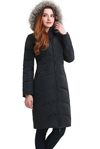 BGSD Women's Bonnie Waterproof Hooded Long Down Coat - M Steel Gray
