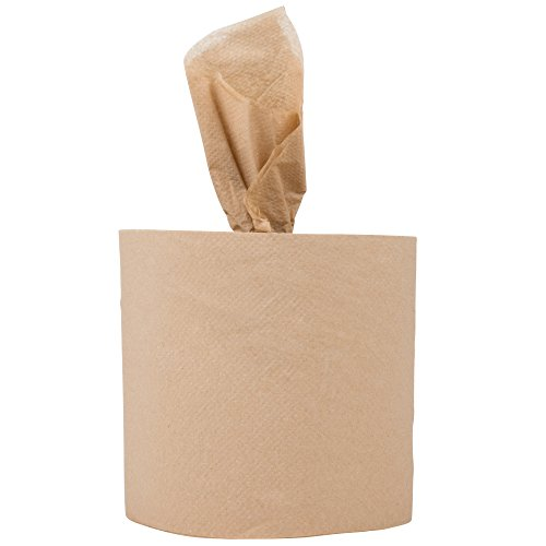 Response 27500 Retain 2-Ply Brown Natural Kraft Coreless Center Pull Paper Towel 500' Roll - ()