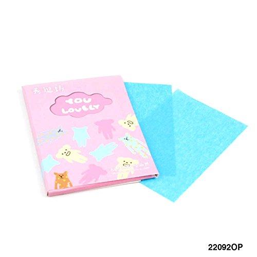 50 Blätter Puderpapier für unterwegs mit schönen Motiven (rosa)