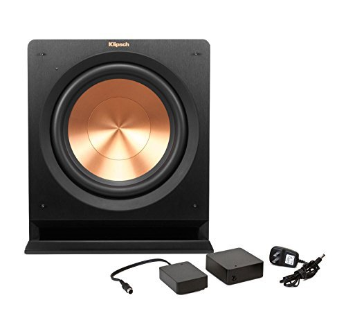 Klipsch R-112SW 12-in. Powered Subwoofer Bundle with WA2 Wireless Kit, Black by Klipsch