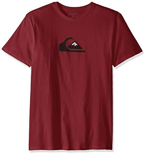 Quiksilver Men's COMP Logo TEE, Cordovan, M