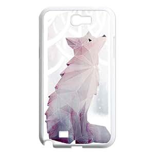Samsung Galaxy N2 7100 Cell Phone Case White Fox in the Snow Mtebl