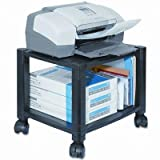 Kantek - Mobile Printer Stand Two-Shelf 17W X 13-1/4D X 14-1/8H Black ''Product Category: Office Furniture/Printer/Office Machine Carts & Stands''