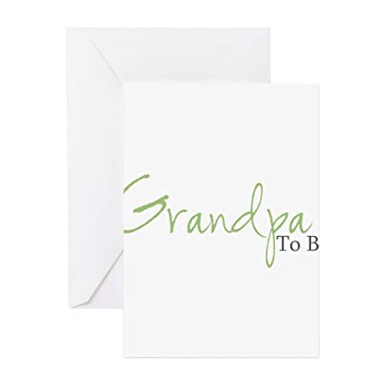 Amazon Cafepress Grandpa To Be Green Script Greeting Cards