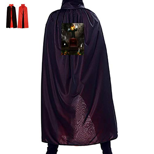 Pumpkin Halloween Magician Double Hooded Robes Cloak Knight Cosplay Costume 29.5(in) ()