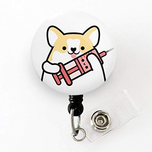2359120f712 Phlebotomist Badge Reel, Phlebotomy Badge Reel, Corgi Badge Reel, Nurse  Badge Reel, Doctor Badge Reel, Cute Badge Reel, Dog Badge Reel, Corgi Gift,  ...