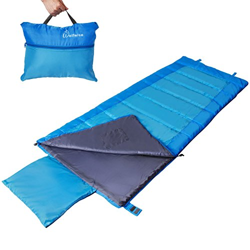 WolfWise 32-60F Lightweight Envelope Sleeping Bag with Storage Bag For Sale