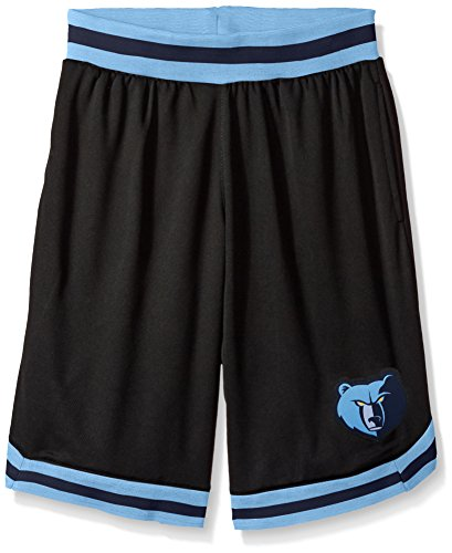 fan products of NBA Men's Memphis Grizzlies Mesh Basketball Shorts Woven Active Basic, Medium, Black