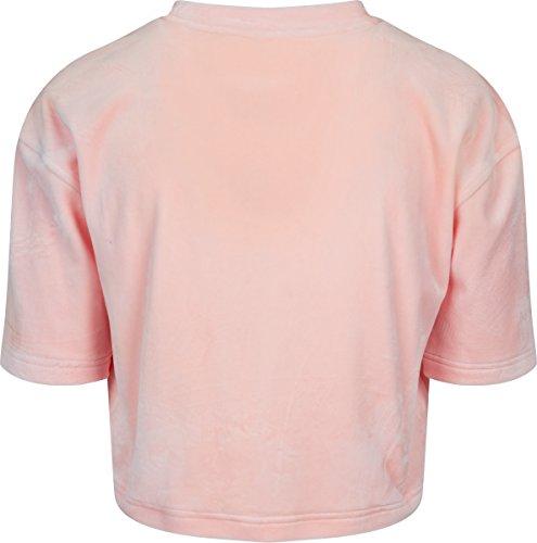Urban Classics Ladies Velvet Short Kimono Tee, Camiseta para Mujer Rosa (Pink 185)