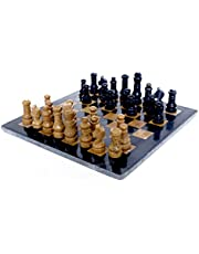 RADICALn Classic Board Game Ideas Black and Golden Marble Chess Set – Handmade Staunton Chess Set Adult Board Game – Ideal as Family Games – Non Othello Game Set - Non Checker Board Game