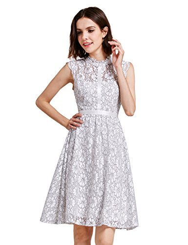 Womens Cocktail Dresses With Collar Lace Dresses For Party Size 10 - Price Junior