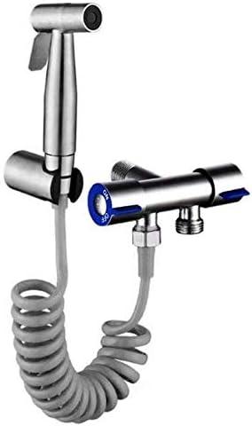 YASE-king ハンドヘルドビデセットスプレー - ステンレス鋼のトイレは、ガンの設定過給洗濯機小型シャワーブラッシュトイレコンパニオン蛇口スプレー
