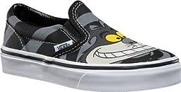 Vans Childrens Disney Classic Slip-On,Cheshire Cat/Black,US 10.5 M