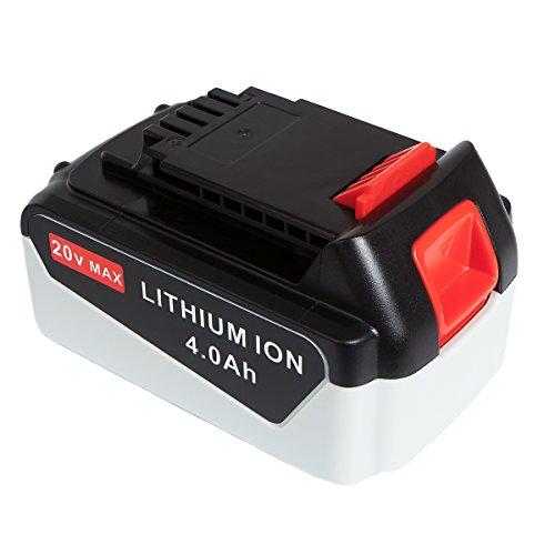FLAGPOWER High Capacity 20V MAX 4.0Ah Battery for Black & Decker LBXR20-OPE LB20 LBX20 LB2X4020