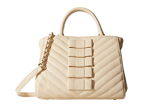 Betsey Johnson Tie Affair Satchel Bag, Cream, One Size (Betsey Johnson Tie)