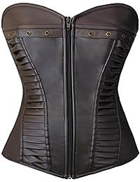 Corsets Women Bustier Top Like Underbust Waist Trainer Leather Design Use Fashion Vintage Cincher