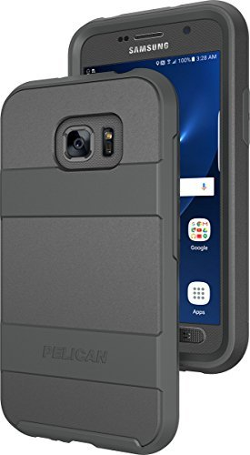 Pelican Voyager Rugged Case + Holster for Samsung Galaxy S7 Active (ONLY) - BLACK - In Retail Packaging