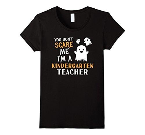 Womens Kindergarten Teachers Halloween Shirt Kinder Teach Gift Large Black