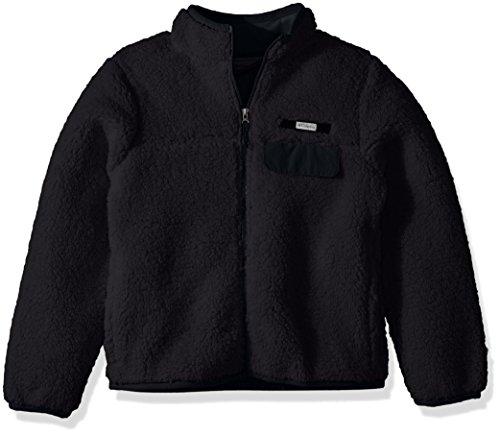Columbia Kid's Mountain Side Heavyweight Full Zip Fleece, Large, Black ()