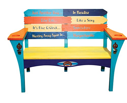 Margaritaville Outdoor Quot Southern Most Pt Quot Bench Green